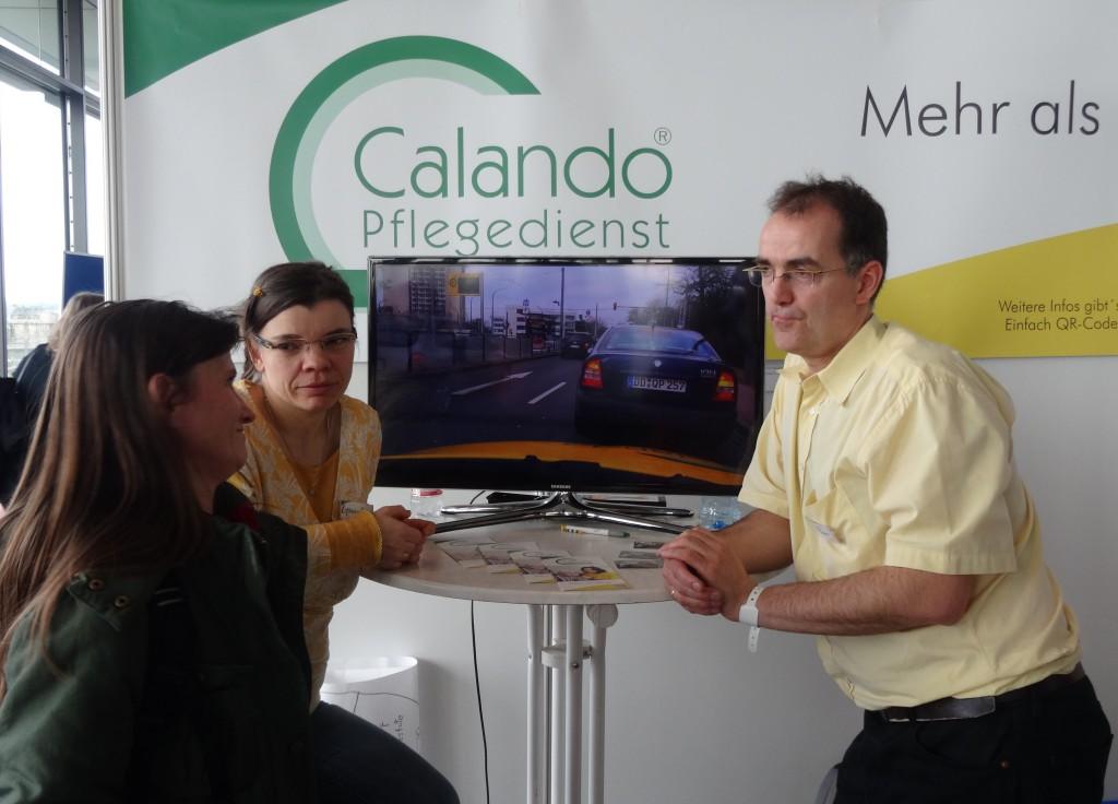Michael Quaas vom Calando Pflegedienst berät.