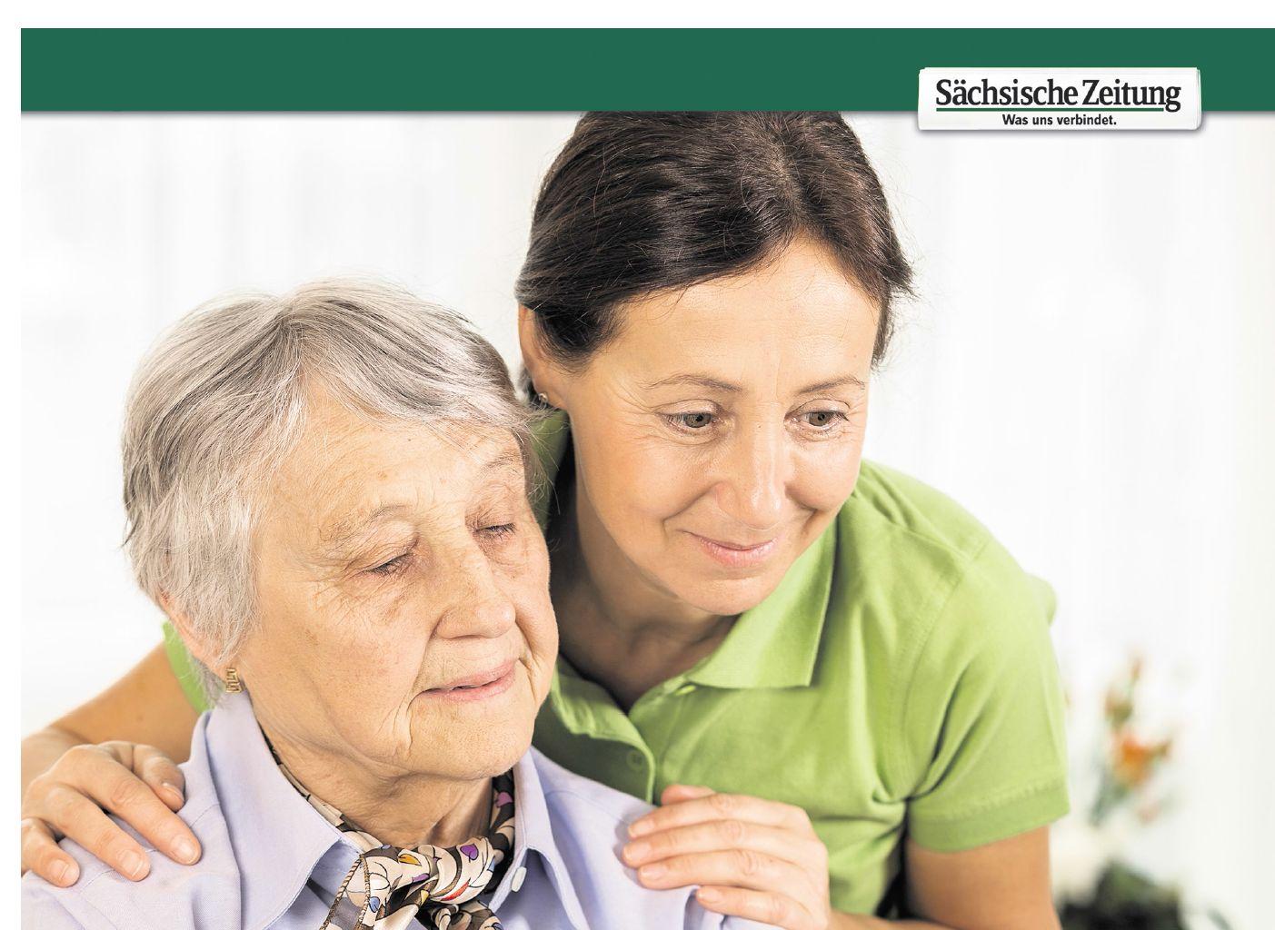 Der Pflegekompass der SZ. (Foto: Sächsische Zeitung / FredFroese | Grafik: www.fotolia.com © macrovector | DRS)