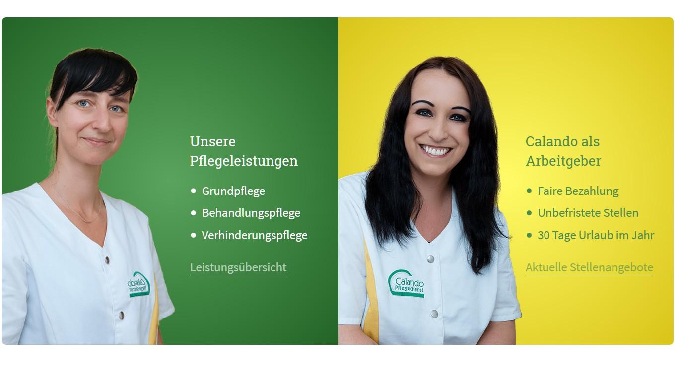 Calando-Pflegedienst.de mit vielen Verbesserungen