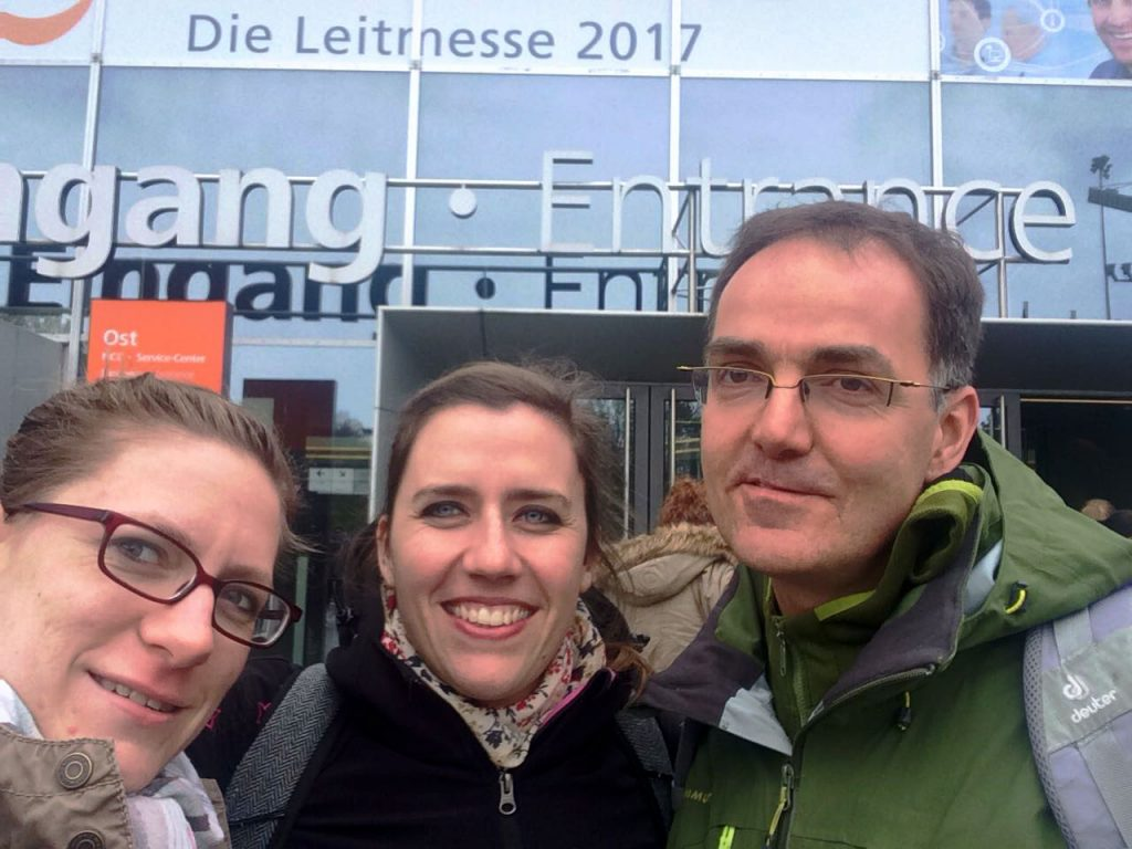 Sonja Frank, Frau Liska Fritzsche und Geschäftsführer Michael Quaas (v.l.n.r.)