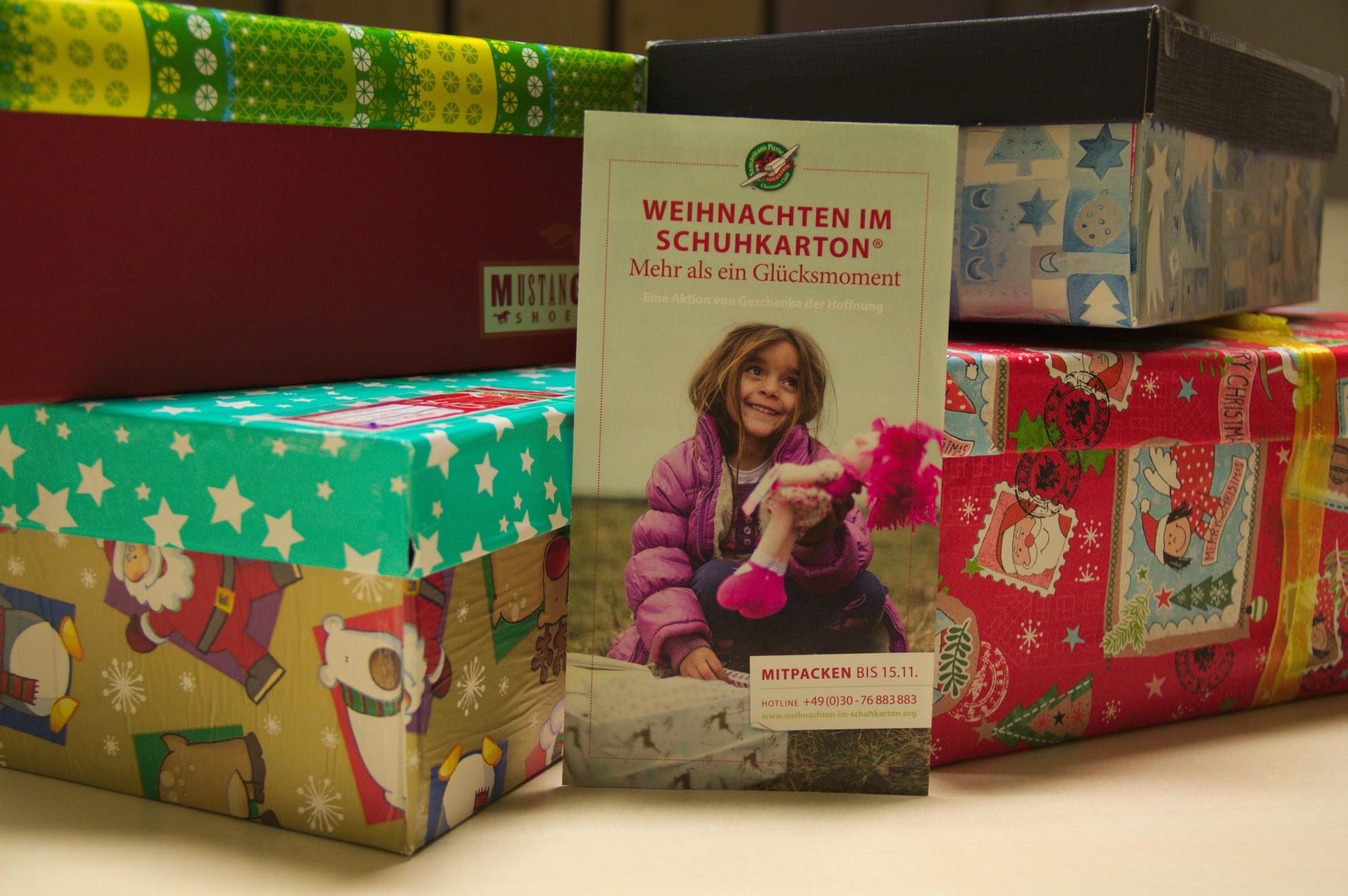 Weihnachten im Schuhkarton: Bringen Sie Ihr Geschenk bei uns vorbei!