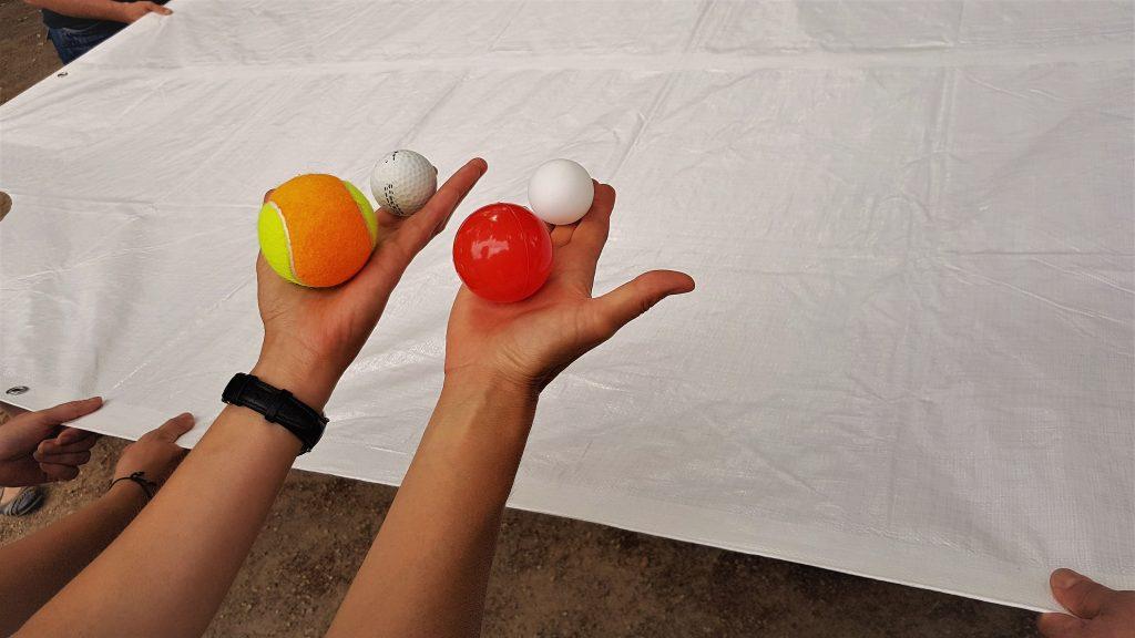 Das Spiel mit den Bällen. (Foto: Sven Wernicke)