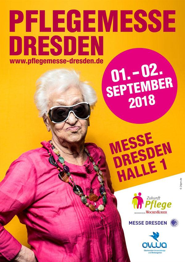 Der Flyer der dritten Pflegemesse. (Foto: Pflegemesse Dresden)