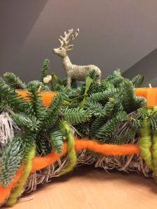 Der Weihnachtskranz von Herrn Quaas. (Foto: Sven Wernicke)