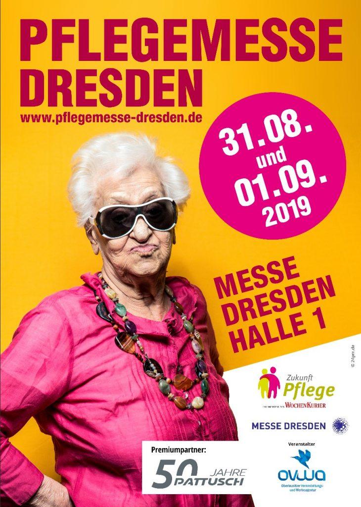 Der Flyer für die 4. Pflegemesse Dresden. (Foto: Pflegemesse Dresden)